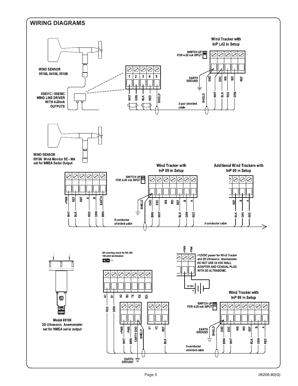 Wiring Diagrams Young Marine Wind Tracker Model 06206