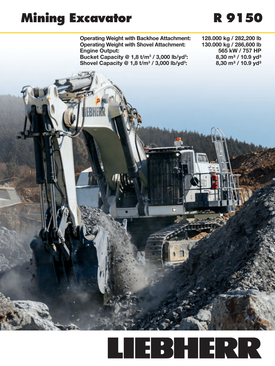 Liebherr R 9150 User Manual 22 Pages