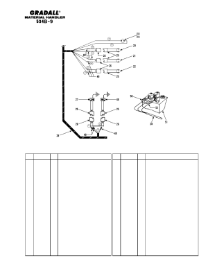 Electrical wiring  frame & engine | Gradall 534B9 Parts