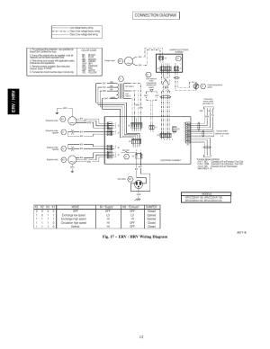 Connection diagram, Er v hr v, Fig 17  erv  hrv