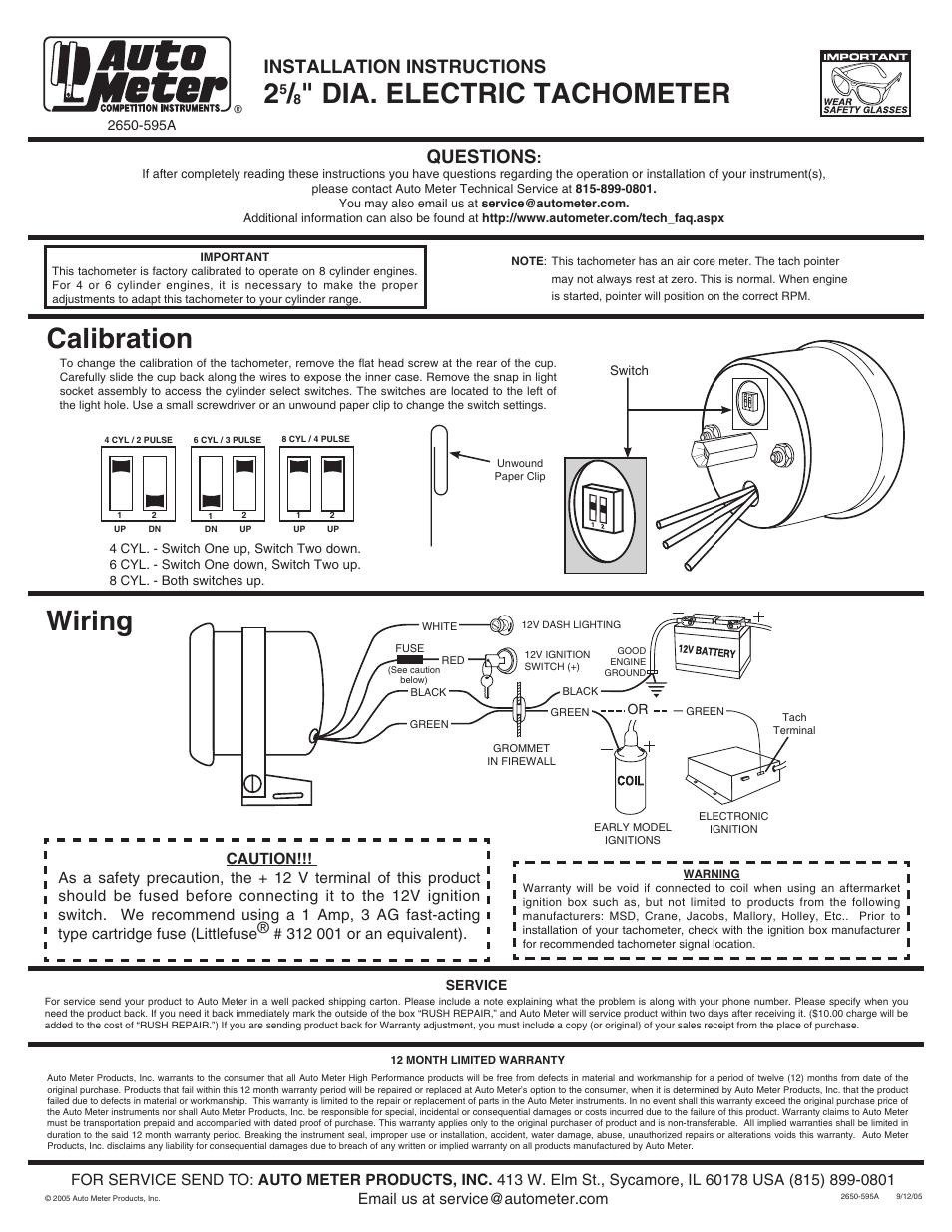 Vdo Tach Wiring 4 Cylinder ~ Wiring Diagram Portal ~ \\u2022 6 Volt System Diagram Vdo Tachometer Wiring Diagram Chevy
