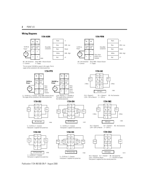 Wiring diagrams, 1734pdn, 1734fpd | Rockwell Automation 1734 Point IO Installation