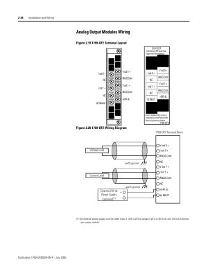 Analog output modules wiring 24, Analog output modules