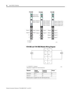 1734ob2 and 1734ob2e module wiring diagram | Rockwell