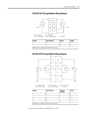 1734ia2 120 v ac input module wiring diagram, 1734ia4