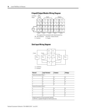8 input8 output module wiring diagram, Sink input wiring