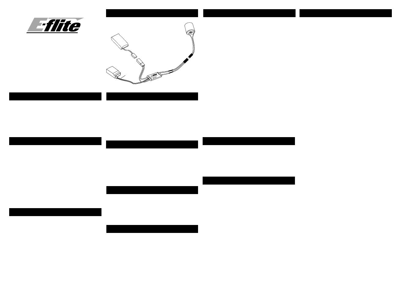 E Flite 10 Amp Micro Brushed Esc User Manual