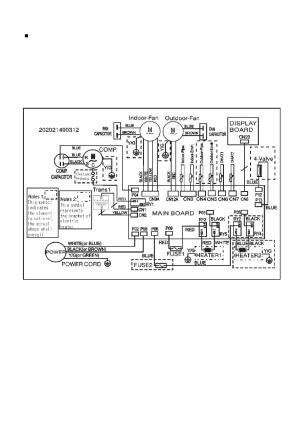 Wiring diagram   Klimaire KTHM015E5H2 PTAC Service Manual