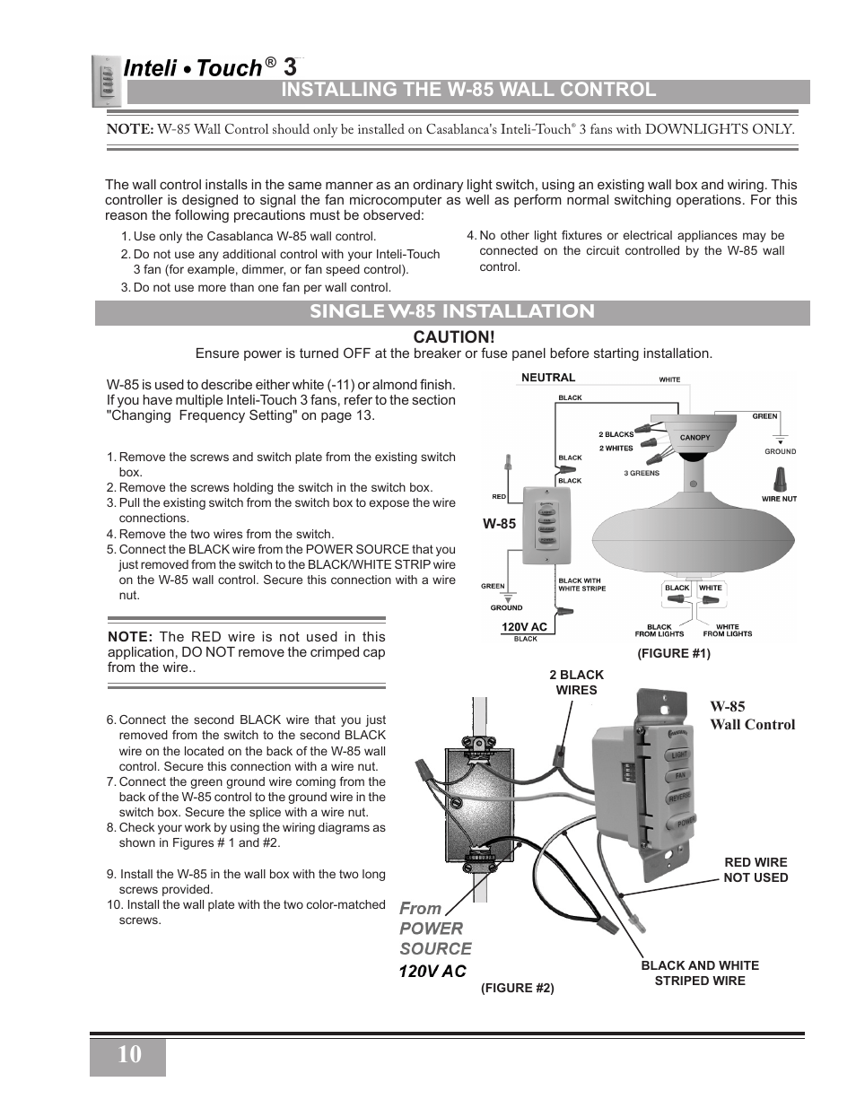 casablanca fan remote instructions