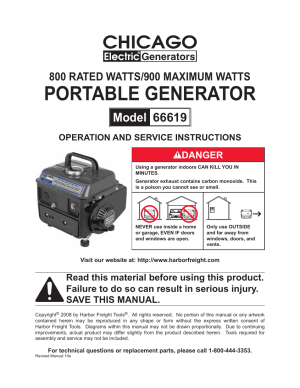 Chicago Electric 66619 User Manual | 25 pages