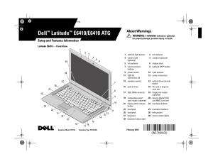 Dell Latitude E6410 User Manual   8 pages   Also for: Latitude E6410 ATG