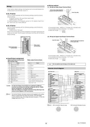Wiring, Internal circuit diagram, Glr series   KEYENCE GLT11R User Manual   Page 5  8