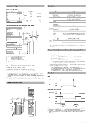 Examples of wiring, External dimensions diagram, Specifications | KEYENCE SLT11R User Manual