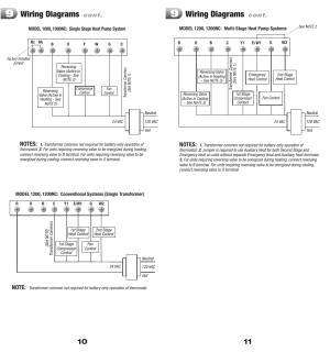 Wiring diagrams | Braeburn 1200 User Manual | Page 6  7
