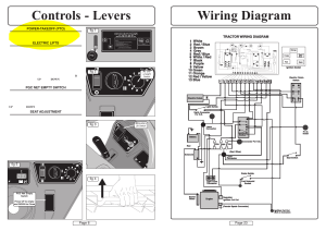 Wiring diagram controls  levers | Countax A50 User Manual