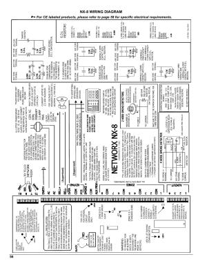 Nx8 wiring diagram | Interlogix NX8 User Manual | Page