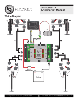 Wiring diagram, Aftermarket manual   Lippert Components