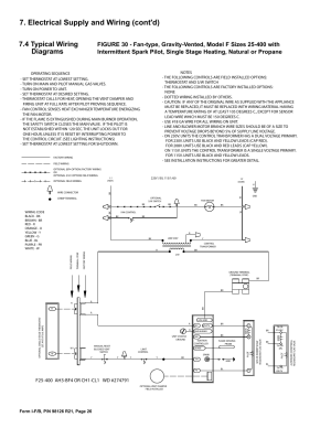 Electrical supply and wiring (cont'd), 4 typical wiring