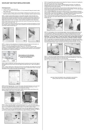 SeaLand VacuFlush 4848 Toilet User Manual | 4 pages
