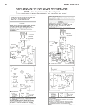 Wiring diagrams for steam boilers with vent damper, 16