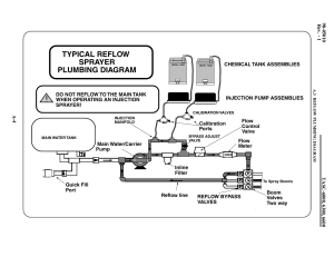Typical reflow sprayer plumbing diagram | TeeJet TASC6600