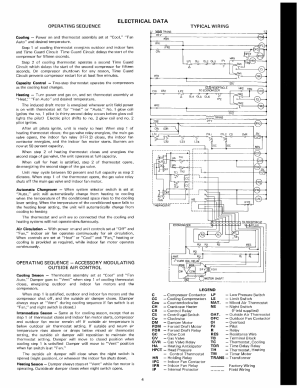 Electrical data, Operating sequence typical wiring cooling