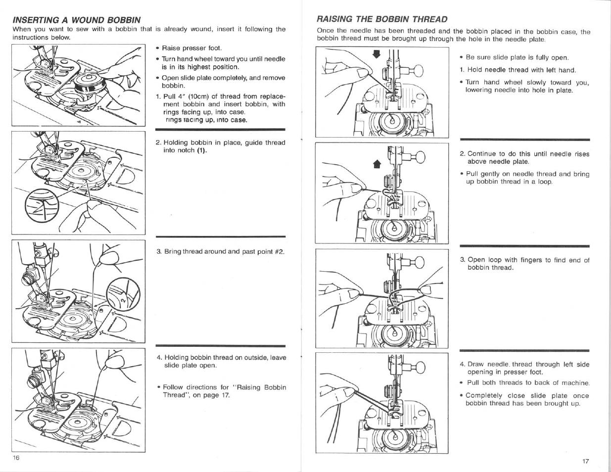 Inserting A Wound Bobbin