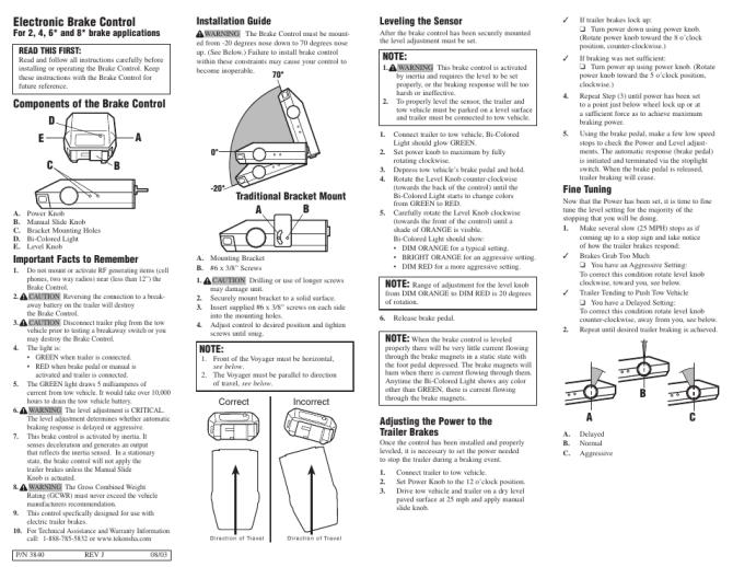 tekonsha voyager electric brake wiring diagram  john deere