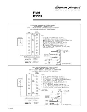 Field wiring | American Standard Freedom 80 User Manual | Page 17  24