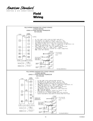 Field wiring | American Standard Freedom 80 User Manual