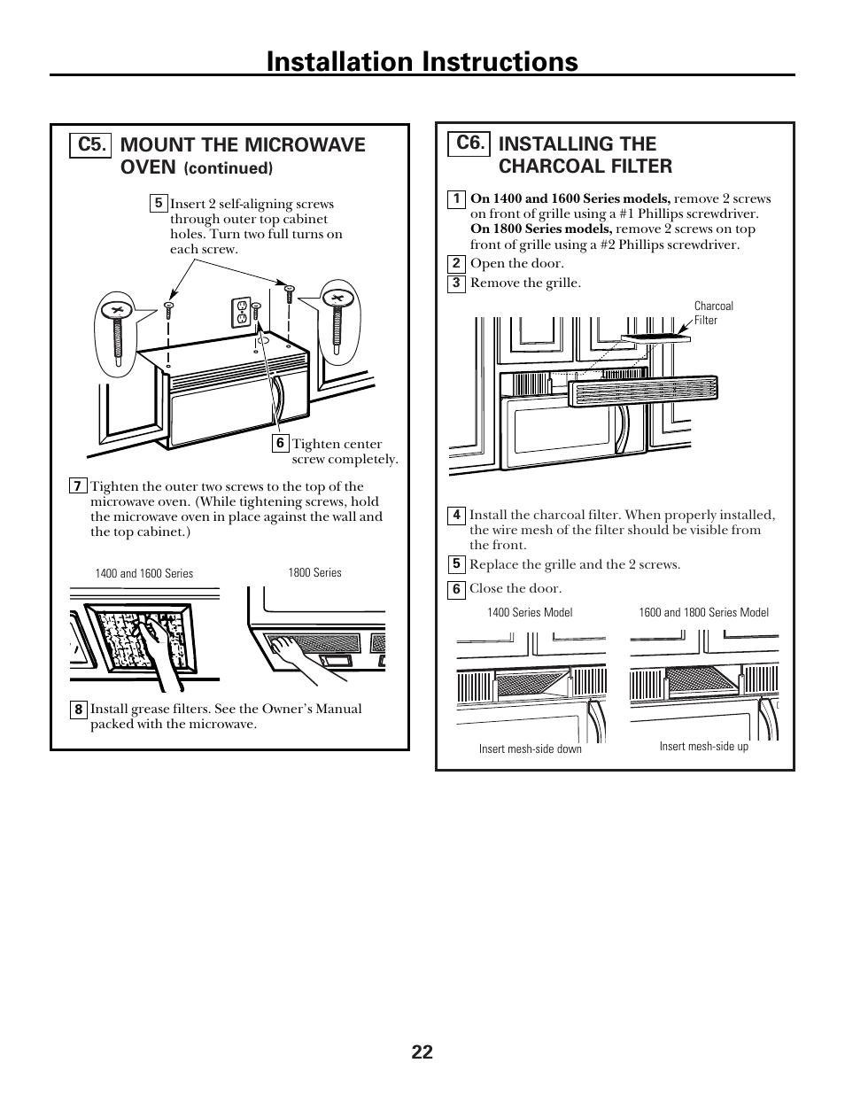 ge spacemaker xl1800 user manual