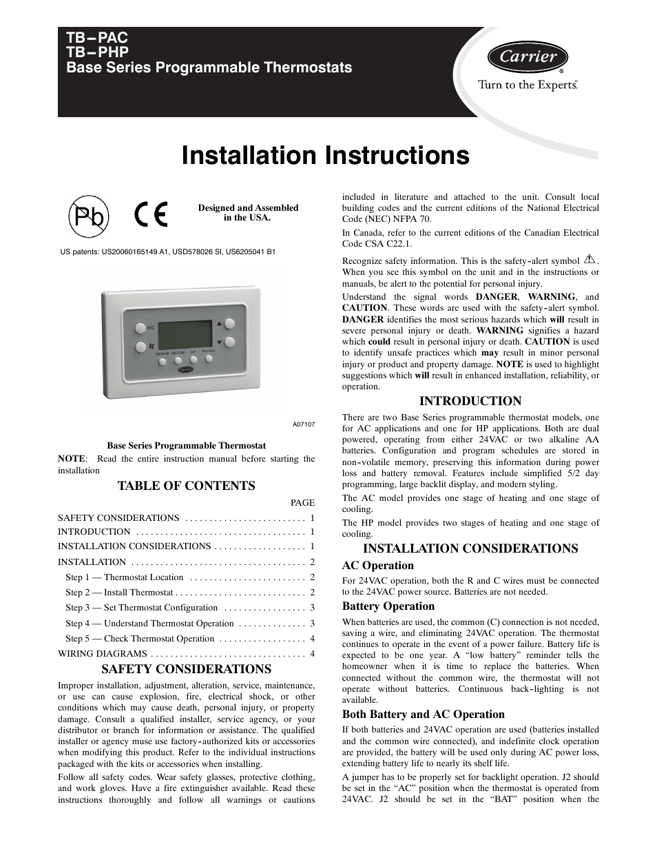 carrier base series programmable thermostats tb pac page1?resize\=665%2C861 camstat fan control wiring diagram lennox wiring diagram, broan camstat wiring diagram at bayanpartner.co