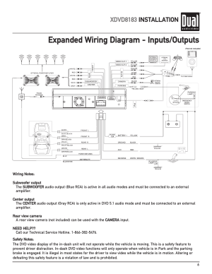 Expanded wiring diagram  inputsoutputs, Xdvd8183