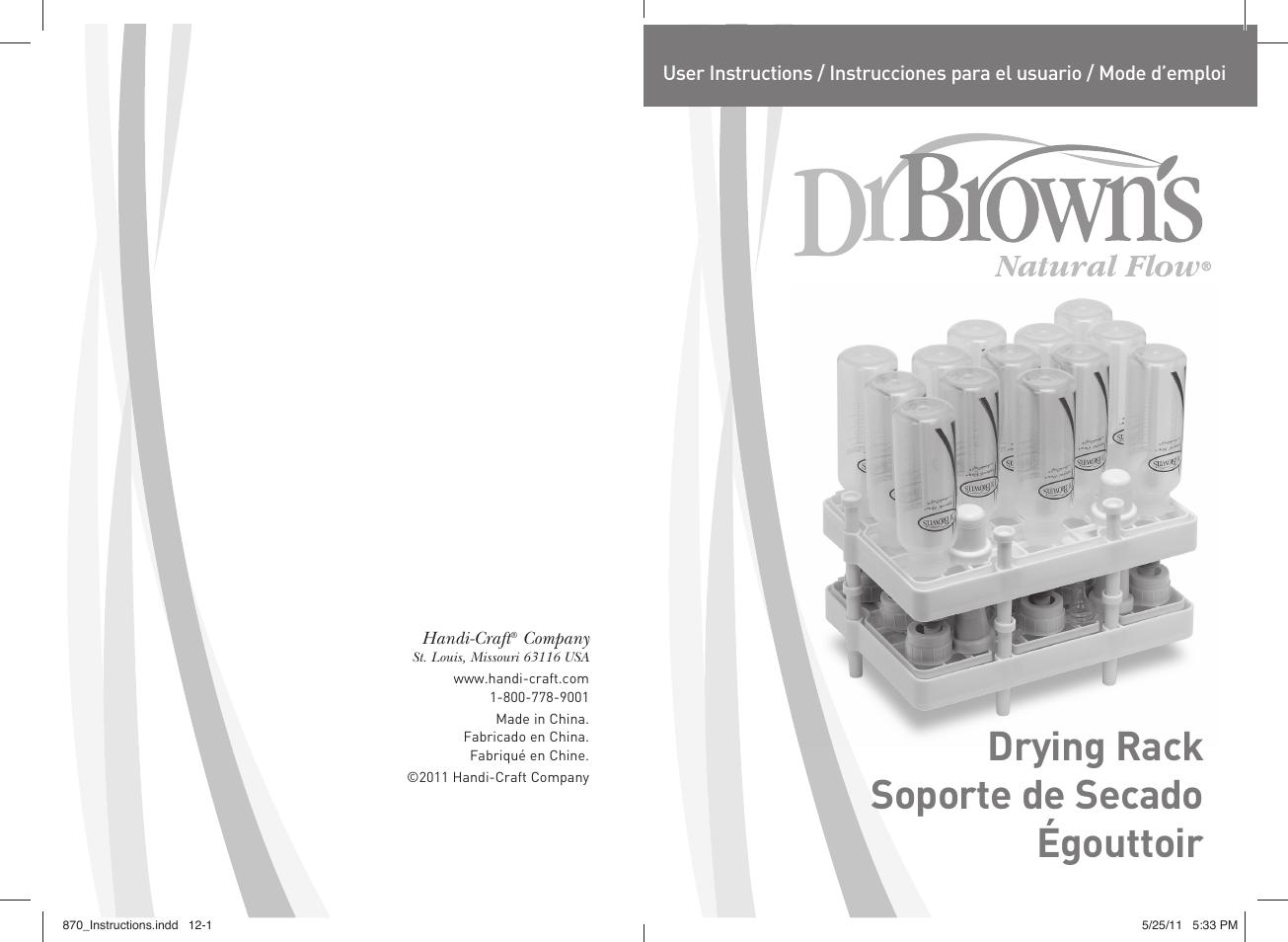 dr brown s drying rack user manual 6