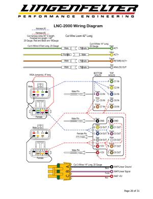 Ab c, Lnc2000 wiring diagram, Cut wire loom 42