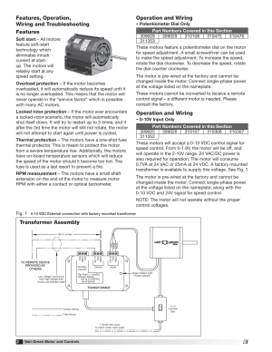Operation and wiring, Transformer assembly | Greenheck VariGreen Motor (IOM 473681) User Manual