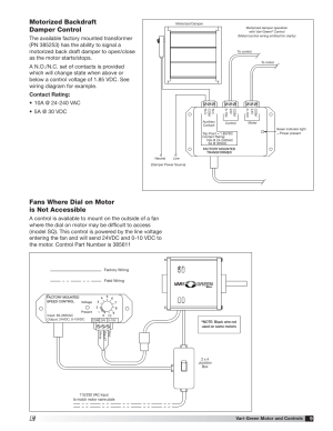 Motorized backdraft damper control, Fans where dial on motor is not accessible | Greenheck Vari