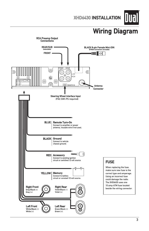 Wiring Diagram Xhd Installation Fuse