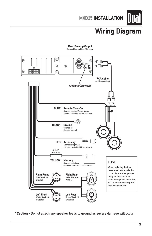 Wiring Diagram Mxd25 Installation Fuse