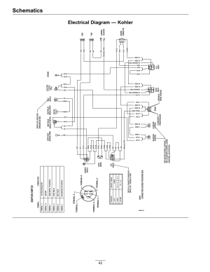 Schematics, Electrical diagram — kohler, Ignition switch | Exmark Lazer Z HP 565 User Manual