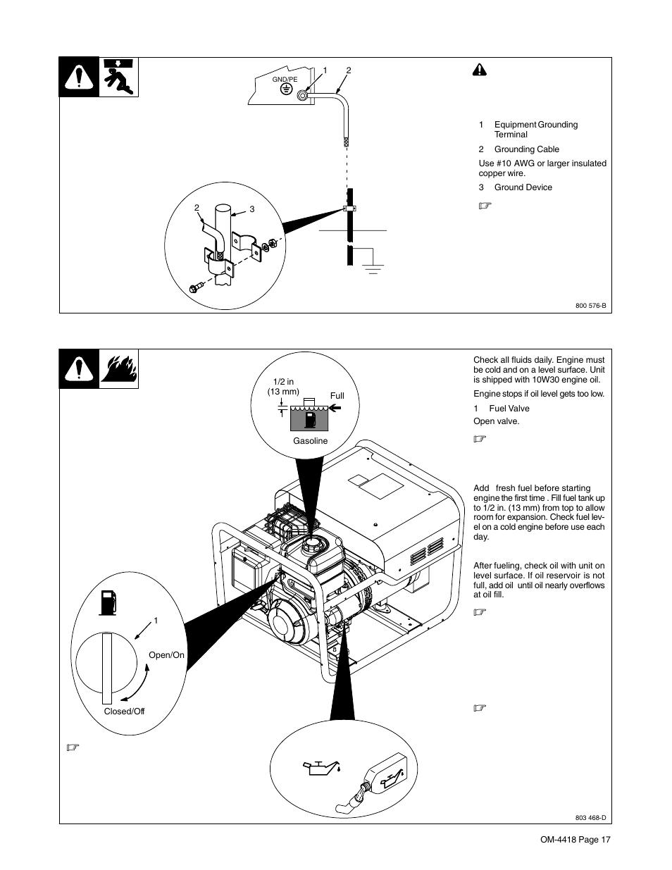 3 engine prestart checks hobart welding products ch ion 4500 om rh manualsdir 220 3 phase wiring diagram millermatic 200 wiring diagram