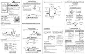 Heath Zenith Motion Sensing 3Way Wall Switch 6107 User