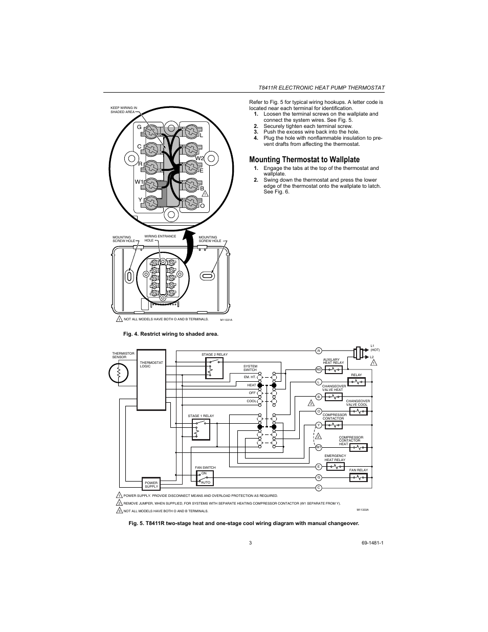 honeywell t8411r thermostat wiring diagram   42 wiring