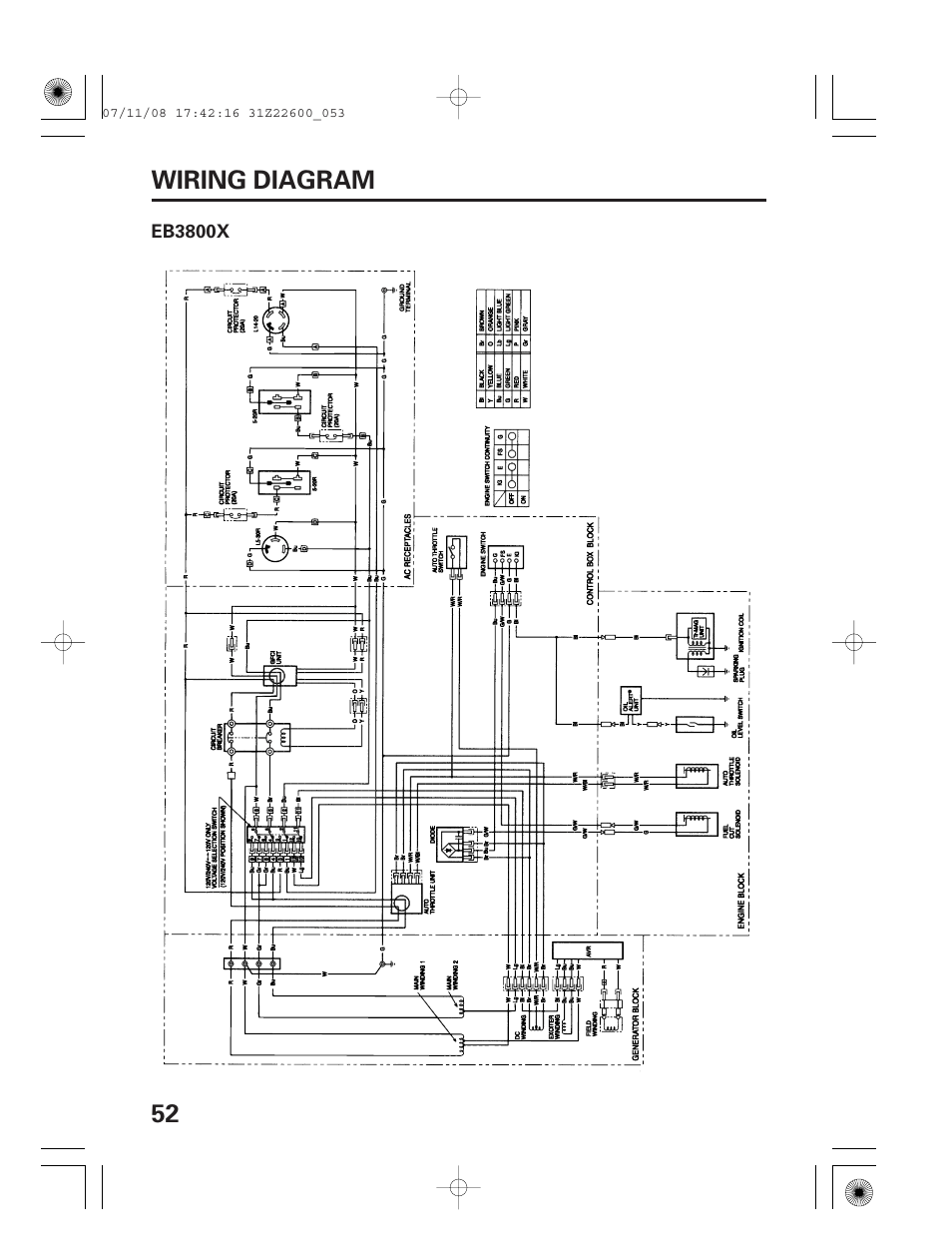 Wiring Diagram Eb X 52 Wiring Diagram