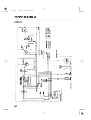 Wiring diagram, Eb3800x, 52 wiring diagram | HONDA EB5000X User Manual | Page 54  71