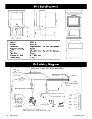 P43 specifications, P43 wiring diagram, Id inch fuse