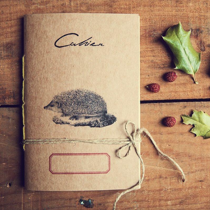 Riccio eco-friendly notebook - Woodland secrets