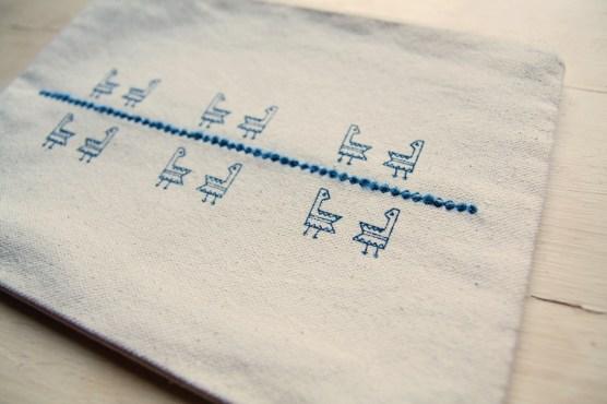 Manuche Twin Gallinella Canvas Enbroidery Bag