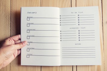 weekly planner interior