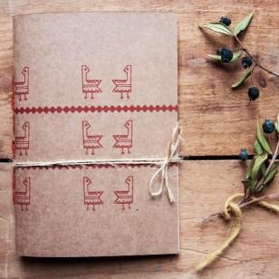 notebook tascabile gallinella rosso